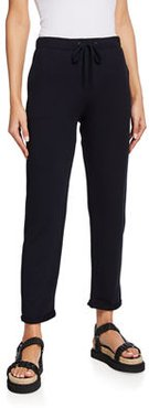 French Terry Cuffed Drawstring Pants