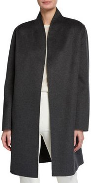 Belted Double Face Woven Cashmere Coat