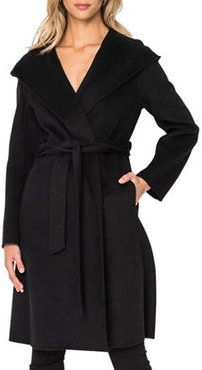Willow Hooded Wool Coat with Belt