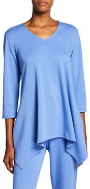 French Terry V-Neck Swing Tunic