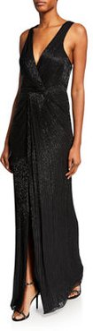 Monarch Sequin V-Neck Sleeveless Gown