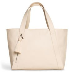 Alexa Small Zip-Top Tote Bag with Horsehair Tassel