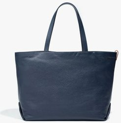 Large Inside-Out Butter Calf/Cashmere Tote Bag