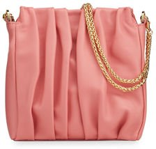 Vague Square Leather Shoulder Bag With Chain
