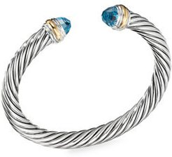 7mm Cable Classics Bracelet with Semiprecious Stones & 14K Gold