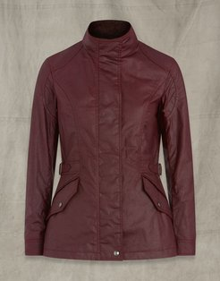 ADELINE WAXED COTTON JACKET Red US 6 /