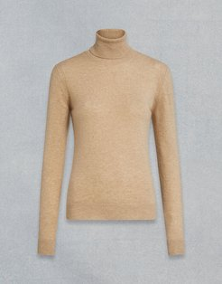 ENGINEERED ROLL NECK Beige