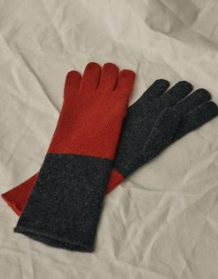 BI-COLOUR GLOVES Multicolor