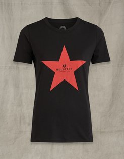 MARIOLA STAR PRINT T-SHIRT Black