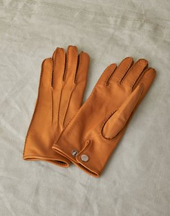 EMYVALE LEATHER GLOVES Brown