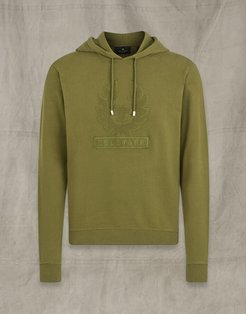 EMBROIDERY APPLIQUE HOODIE Green