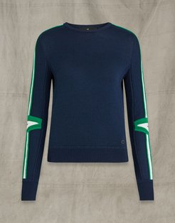 IGNITION WOOL CREW NECK navy XS