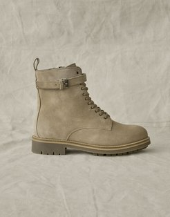 Finley Combat Leather Boot Brown US 7 /