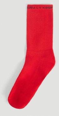 3 Pack Logo-Trimmed Socks in Red   LN-CC male Red 80% Cotton, 18% Polyamide, 2% Elastane.45049