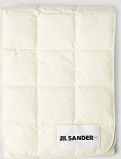Quilted Down Scarf in White | LN-CC female White 100% Recycled Polyester. Dry clean45006