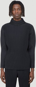 Homme Plisse Issey Miyake Funnel Neck Top   LN-CC male Black 100% Polyester. Machine wash. Cold temperature. Do not apply pressure.40005