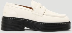 Platform Loafers in White   LN-CC female White 100% Leather. 100% Rubber.41024