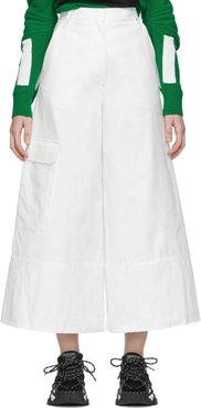 2 Moncler 1952 White Wide-Leg Trousers