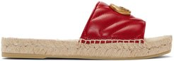 Red Charlotte Espadrille Sandals