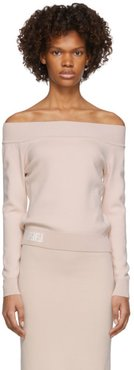 Pink Forever Fendi Off-The-Shoulder Sweater