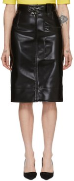 Black Coating Pencil Skirt
