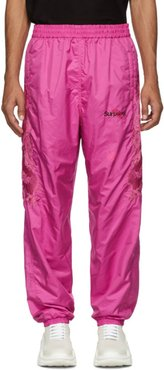 Pink Chaos Embroidery Track Pants