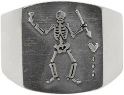 Silver Pirate Plate Ring