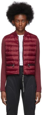 Red Down Knit Jacket