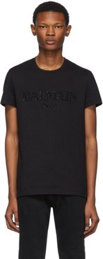 Black Glass Embroidered T-Shirt