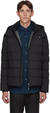 Navy Down Hooded Puffer Jacket