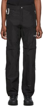 Black Convertible Zip-Off Trousers