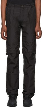 Black Technical Layered Trousers