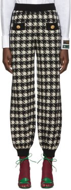 Black and Off-White Houndstooth Lounge Pants