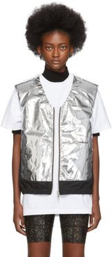 Silver and Black Padded Vest