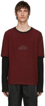 Black and Red Striped Long Sleeve T-Shirt
