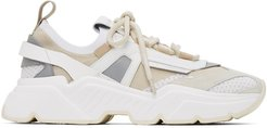 Beige Stretch Mesh Daymaster Sneakers