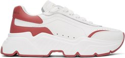 White and Pink Daymaster Sneakers