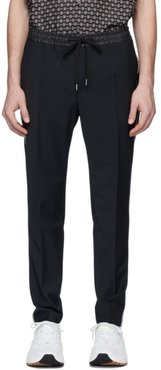 Black Stretch Wool Jogging Trousers