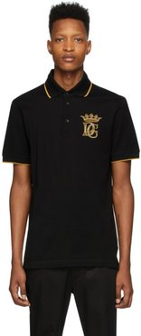 Black Embroidered Logo Polo