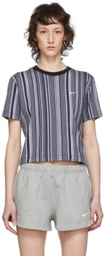Blue and White Striped Essential T-Shirt