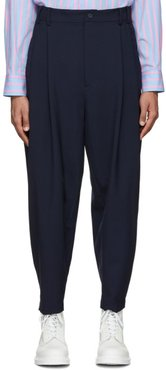 Navy Wool Overdrive Trousers