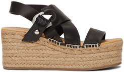 Black August Platform Espadrilles