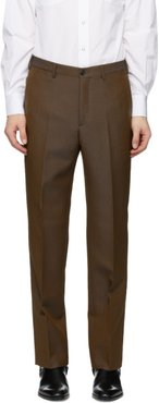 Brown Wool Classic Trousers