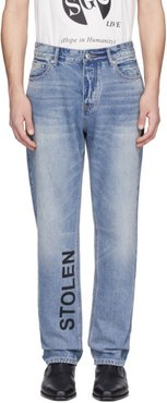 Blue Smith Stamp Jeans