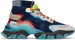 Navy Leave No Trace High-Top Sneakers