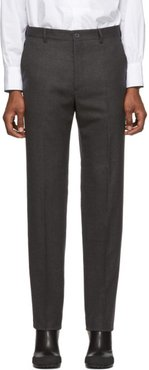 Grey Wool Classic Trousers