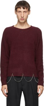 Burgundy Wool Chain Crewneck