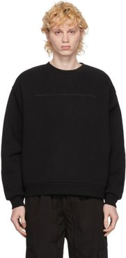 Black Embroidered Logo Cut-Out Sweatshirt