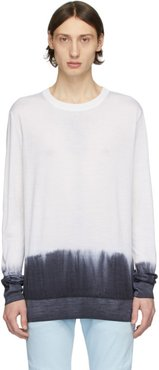 Black and White Tie-Dye Sweater