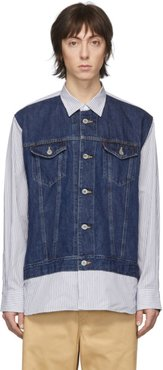 Blue and White Levis Edition Striped Shirt